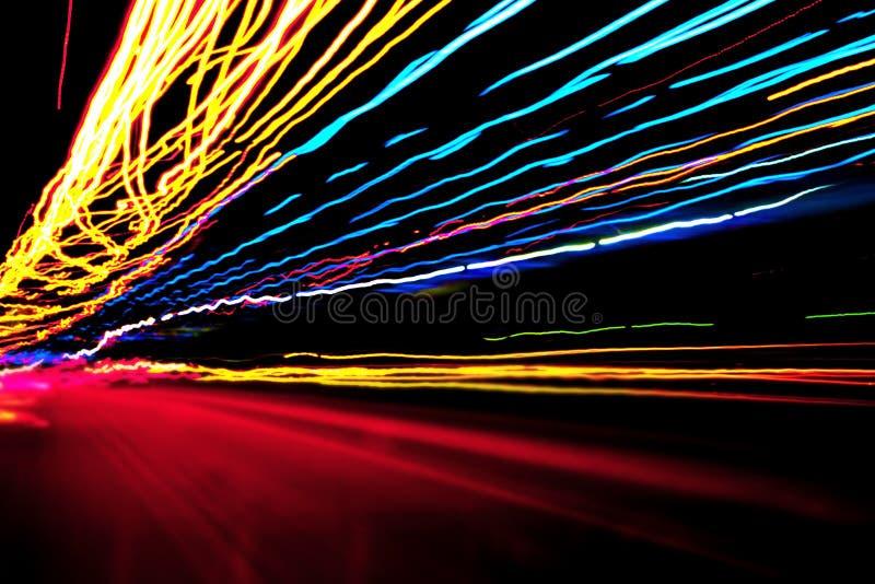 Färgade ljus för neon royaltyfri illustrationer