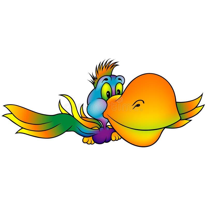 färgade många papegojan vektor illustrationer