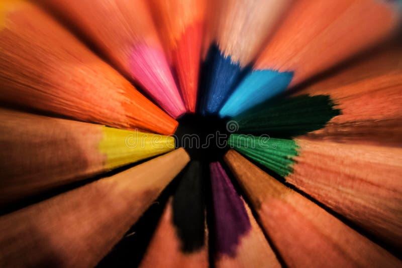 Färgade pincles royaltyfria foton