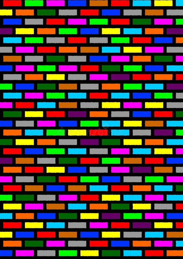 färgade tegelstenar fotografering för bildbyråer