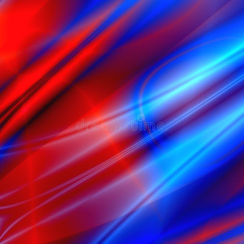 färgade waves royaltyfri illustrationer