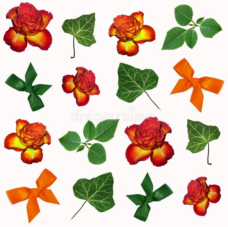 Färgar blom- bakgrund royaltyfri illustrationer