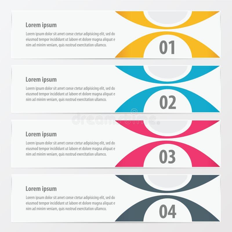 Färgar guling för den moderna designen för vektorbanret, blått, rosa färger royaltyfri illustrationer