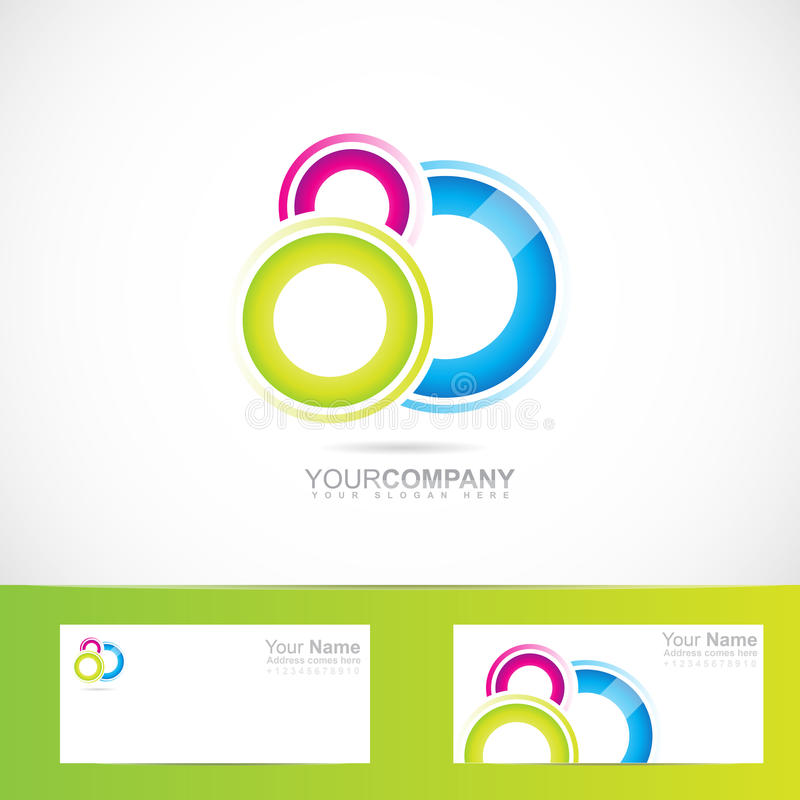Färgat abstrakt begrepp cirklar logo vektor illustrationer