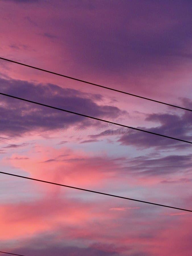 Färgat av moln royaltyfri bild