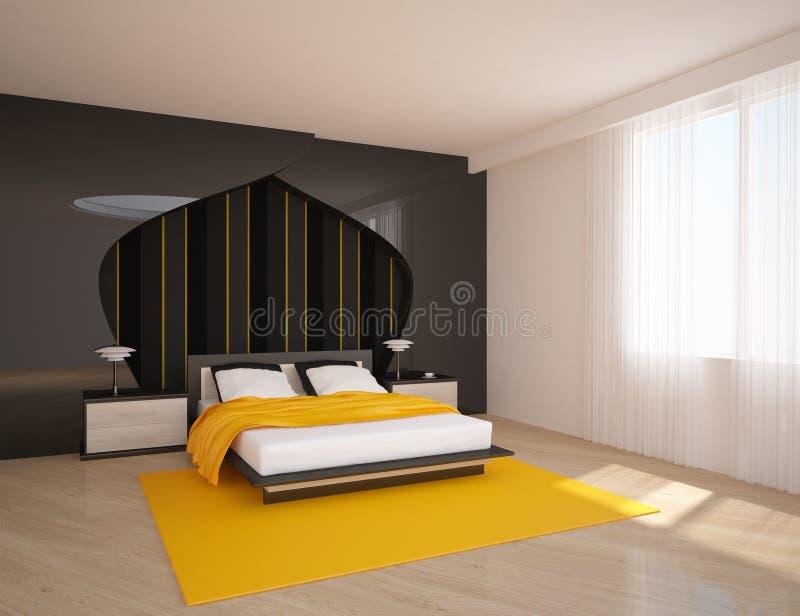 färgat sovrum stock illustrationer