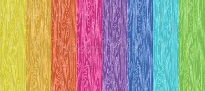 färgat trä vektor illustrationer