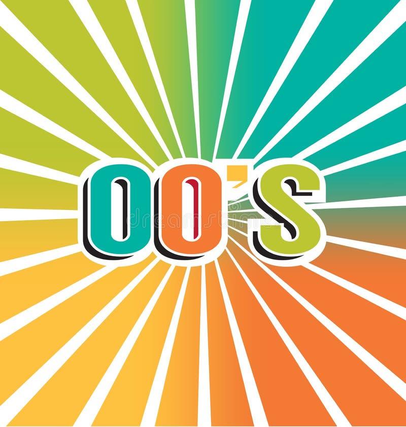 färgbakgrund för tappning 2000s royaltyfri illustrationer