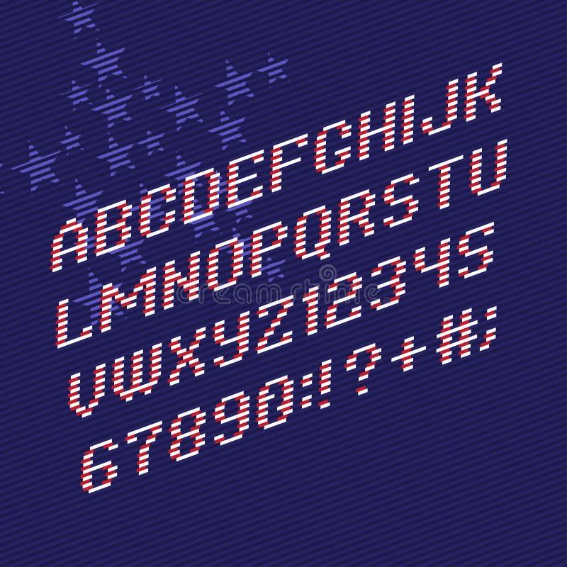Färgbandstilsort och nummer stock illustrationer
