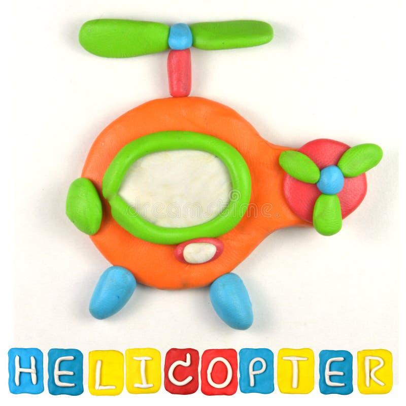 Färgbarns plasticine för helikopter royaltyfria bilder