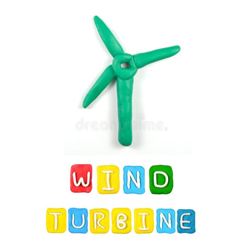 Färgbarns plasticine för turbin för vind arkivbild
