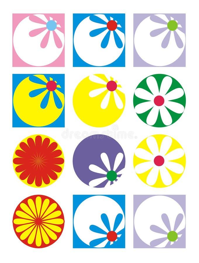 färgblommor arkivbild