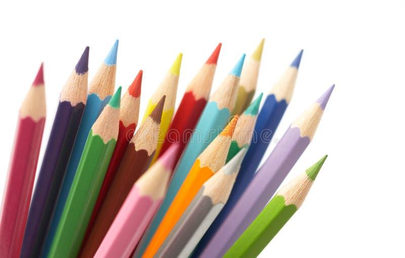 färgblyertspenna arkivbild