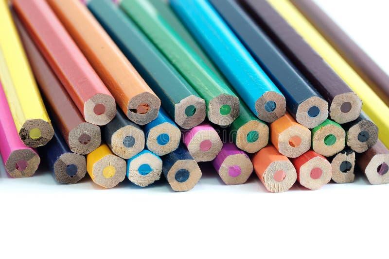 Färgblyertspennan fotografering för bildbyråer