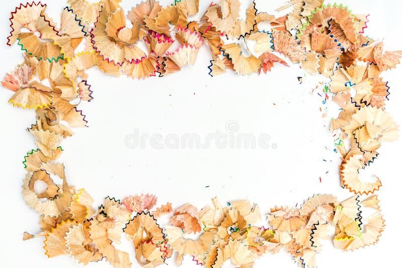 Färgblyertspennashavings arkivfoton