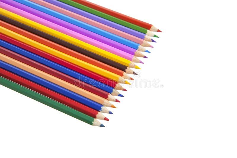 Download Färgblyertspennauppsättning På Vit Bakgrund Arkivfoto - Bild av penna, högskola: 76702038