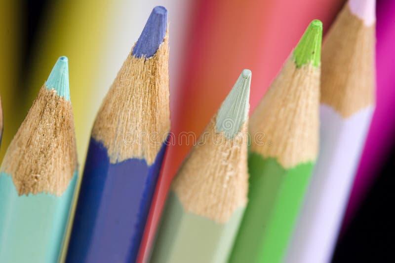 färgblyertspennor fotografering för bildbyråer