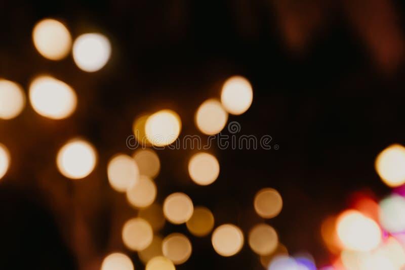 Färgbokeh tänder suddig bakgrund arkivfoto