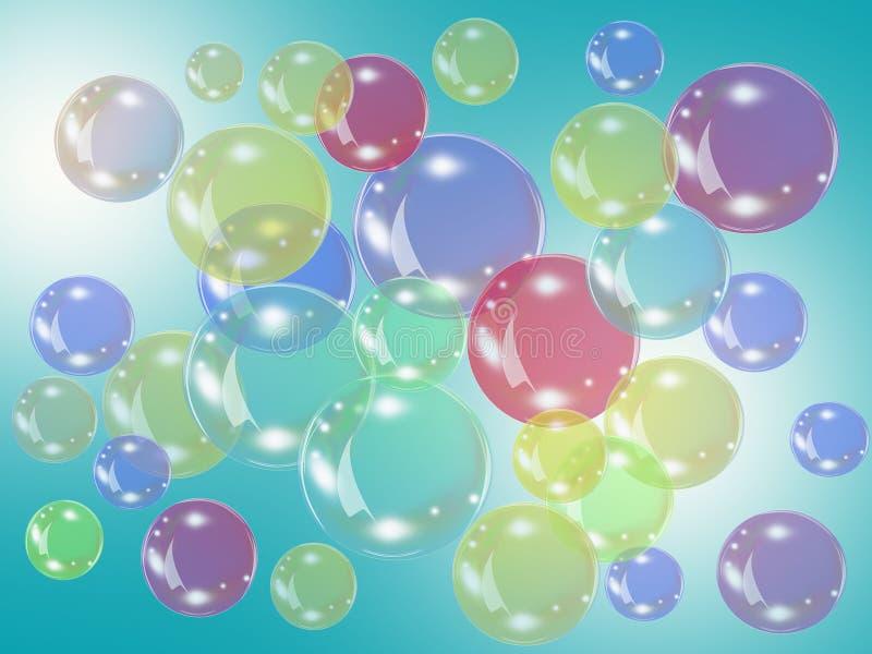 Färgbubblor royaltyfri illustrationer
