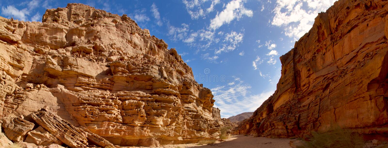 Färgconyon i den Sinai öknen, Egypten royaltyfria foton