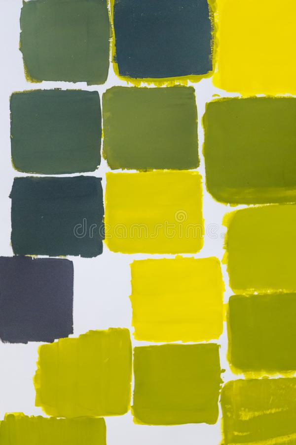 Färgdiagram för gul gräsplan arkivfoton