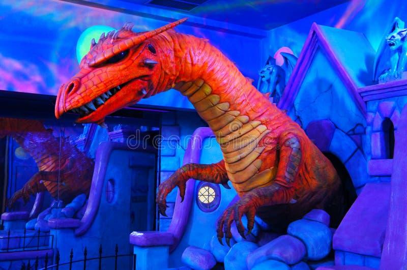 Färgdinosaurie fotografering för bildbyråer