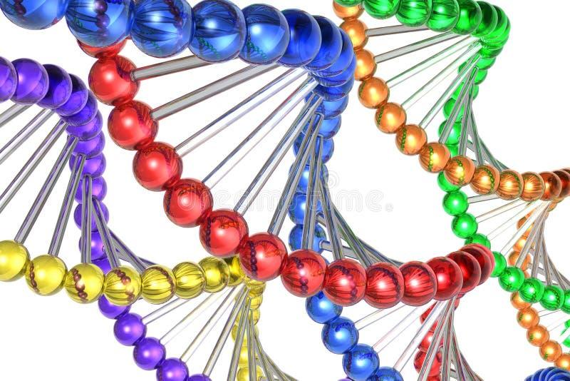 färgdna-molekylar royaltyfri illustrationer