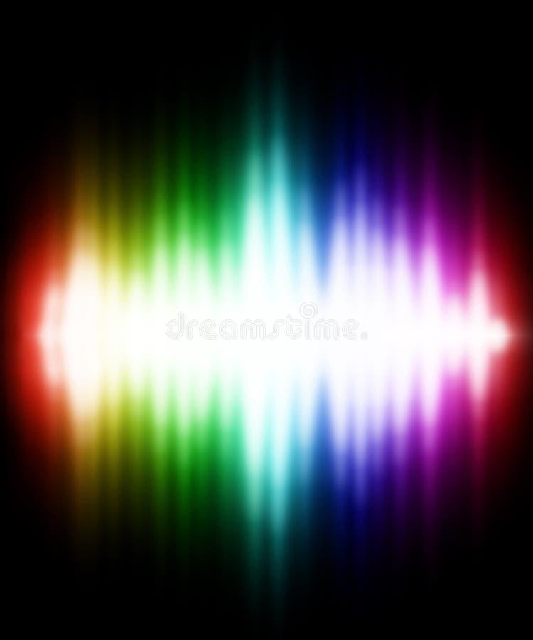 färgeffektlampa stock illustrationer