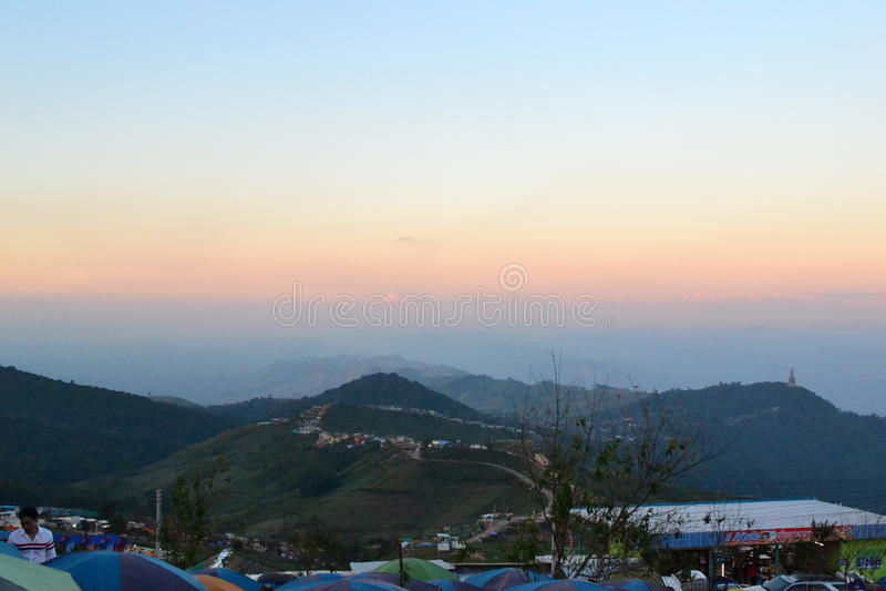 Färgen av solnedgången fotografering för bildbyråer