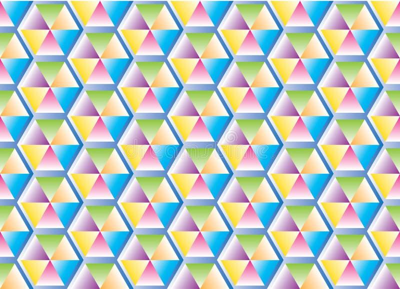Färgen av triangelmodellen royaltyfri fotografi