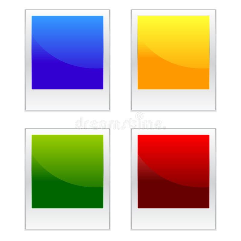 färgeps-polaroids stock illustrationer