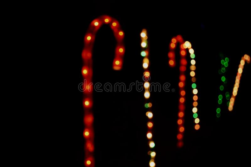 färger av oskarpa ljus som förbinds med jul royaltyfri bild