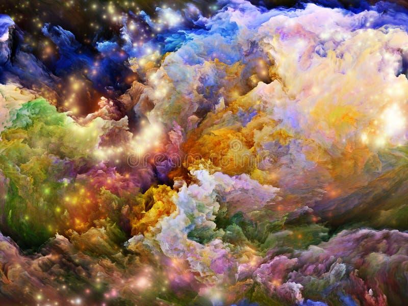 Färger av skapelsen stock illustrationer