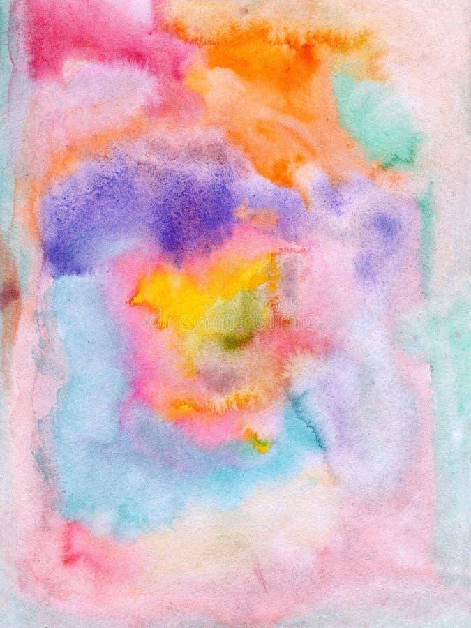 Färger för flödande vatten på papper arkivfoto