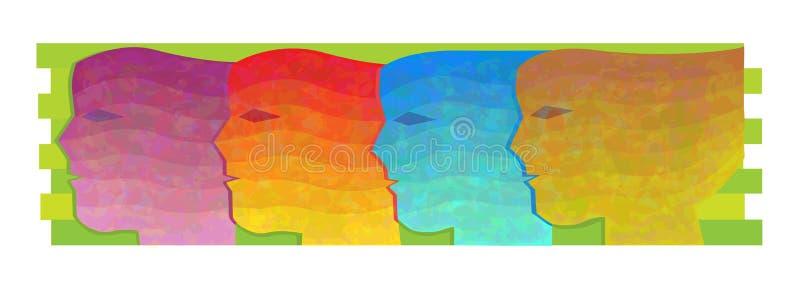 Färger för kvinnor allra vektor illustrationer