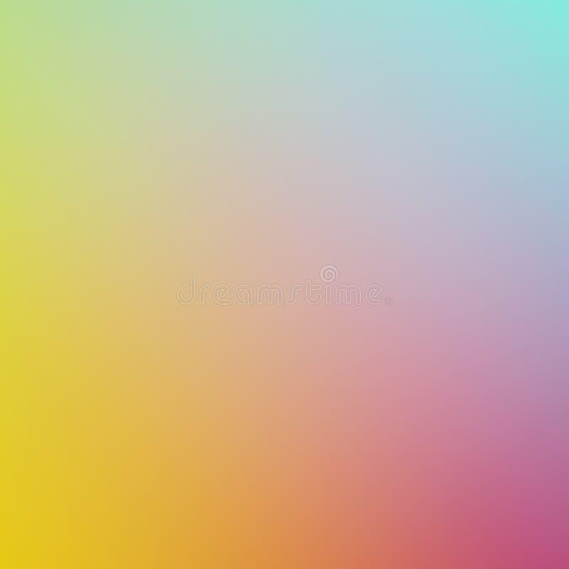 Färger för lutning för blå gul rosa färggräsplan blandar härliga backgroun royaltyfri bild