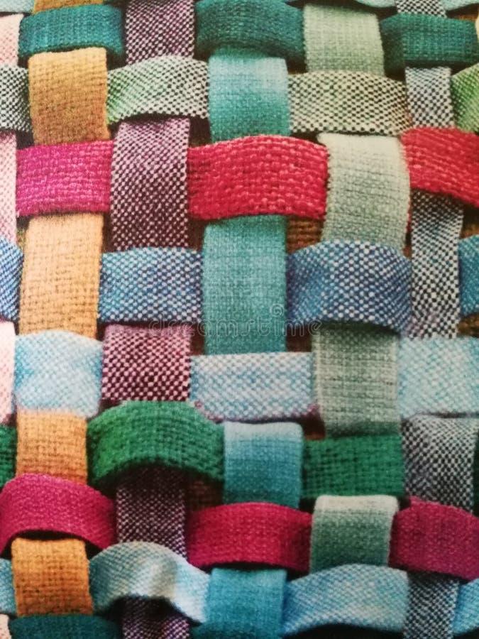 Färger i linjer av bomull arkivbild