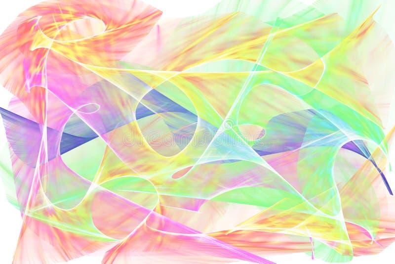 Färger på den vita bakgrunden vektor illustrationer