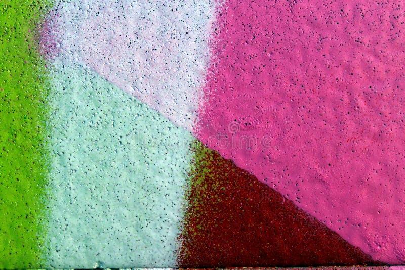 Färger på en vägg arkivbild
