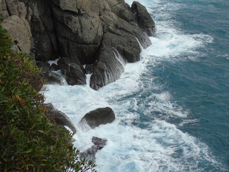 Färger på havet i Portofino arkivfoto