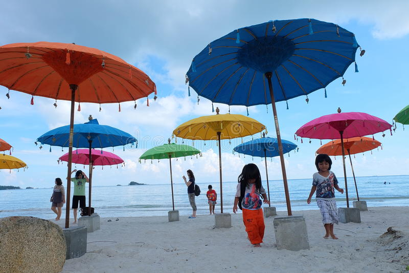 Färgerna av stranden arkivfoto