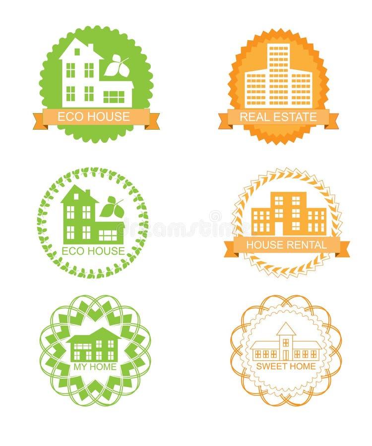 Färgetikettuppsättning vektor illustrationer