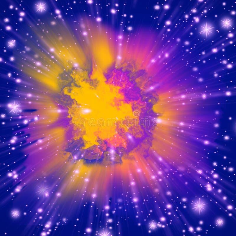 färgexplosion royaltyfri illustrationer