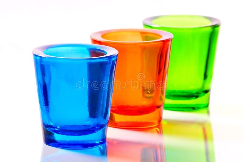 färgexponeringsglas arkivfoton