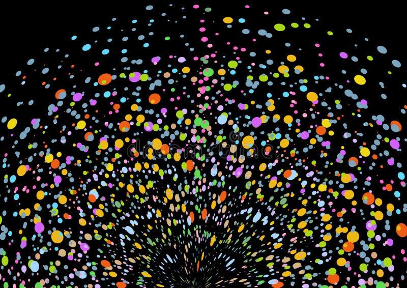 färgfärgstänk vektor illustrationer