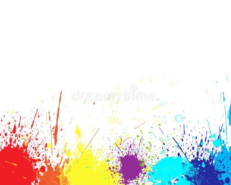 Färgfärgstänk stock illustrationer
