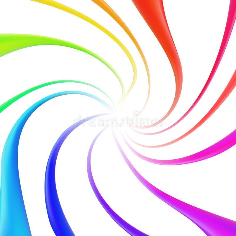 Färgfärgstänkmålarfärg isolerade Vätskeflödande färgpulver g?r f?r att spika upp polerade produkter Regnb?gesamling Beståndsdelar arkivbild
