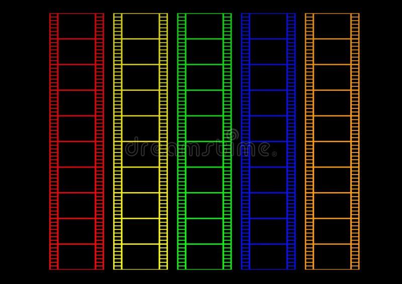 färgfilm stock illustrationer