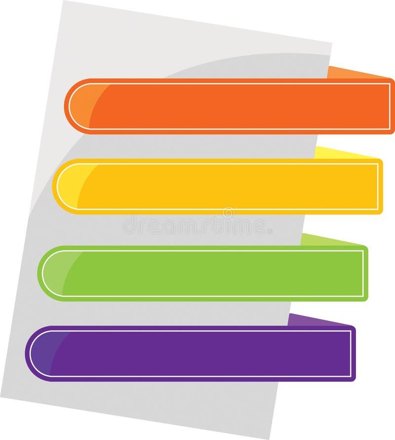 färgflikar royaltyfri illustrationer