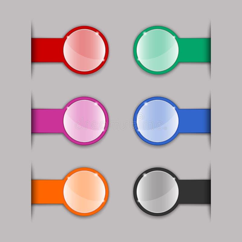 Färgflikar vektor illustrationer